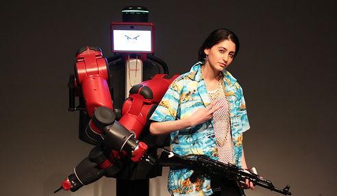 Baxter Project, robot theatre, Talin Hildebrandt, actor Baxter