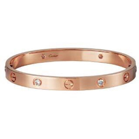 Bracelete Rosê Cartier Inspired