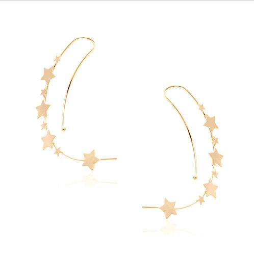 Brinco Dourado Stars