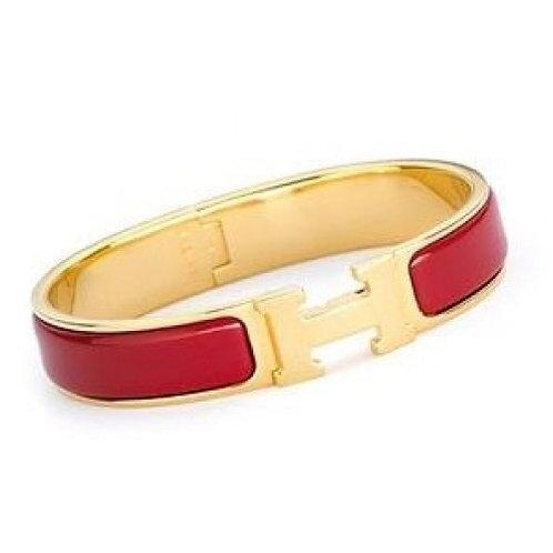 Bracelete Hermes Inspired Vermelho