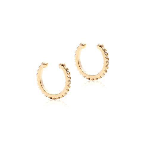 Piercing Dourado Zircônias (2 unidades)