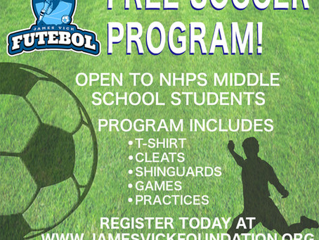 Registration for the JVF middle school soccer program is now open!