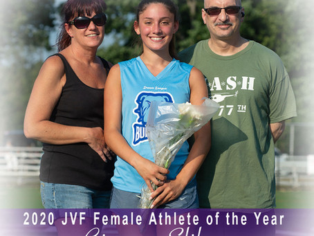 Video: Gianna Latella Sliby accepts the 2020 JVF Female Athlete Of The Year Award!!