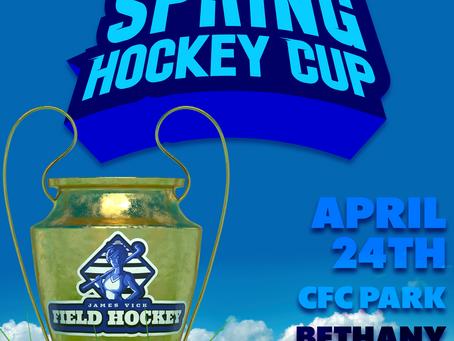 "JVF Hockey to host the ""Spring Hockey Cup"" April 24th at CFC Park!"