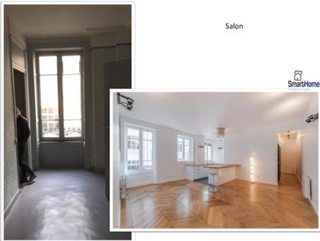 Avant / Après - Smart Home Ainay rénovée