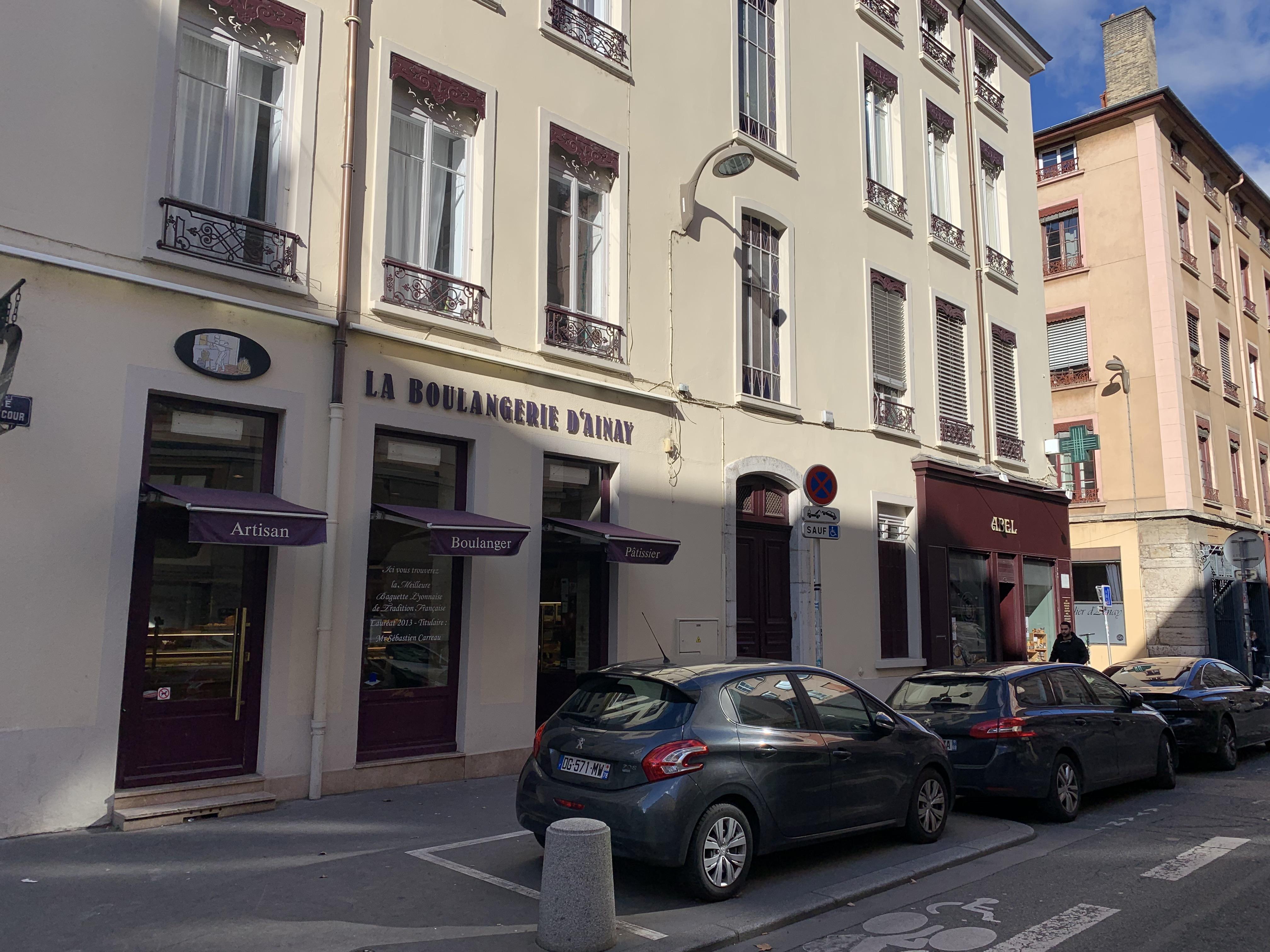 rue Vaubecourd Boulangerie Ainay