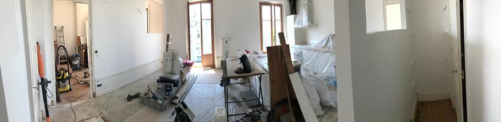Smart Home T3 Sully phase mise en peinture
