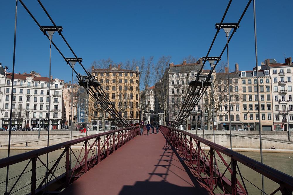 Lyon, traversée de la Saône