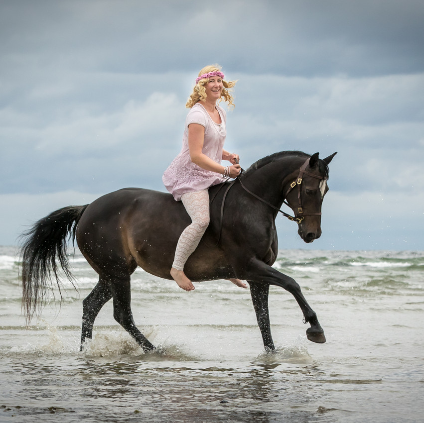 Andrea mit Pferden-19