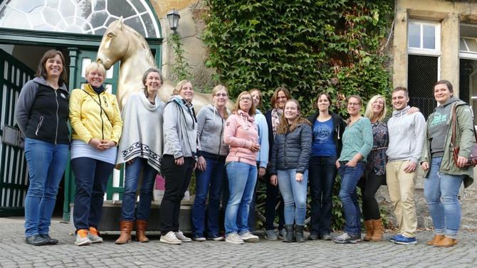 Seminar und Morgenarbeit in der Fürstlichen Hofreitschule Bückeburg