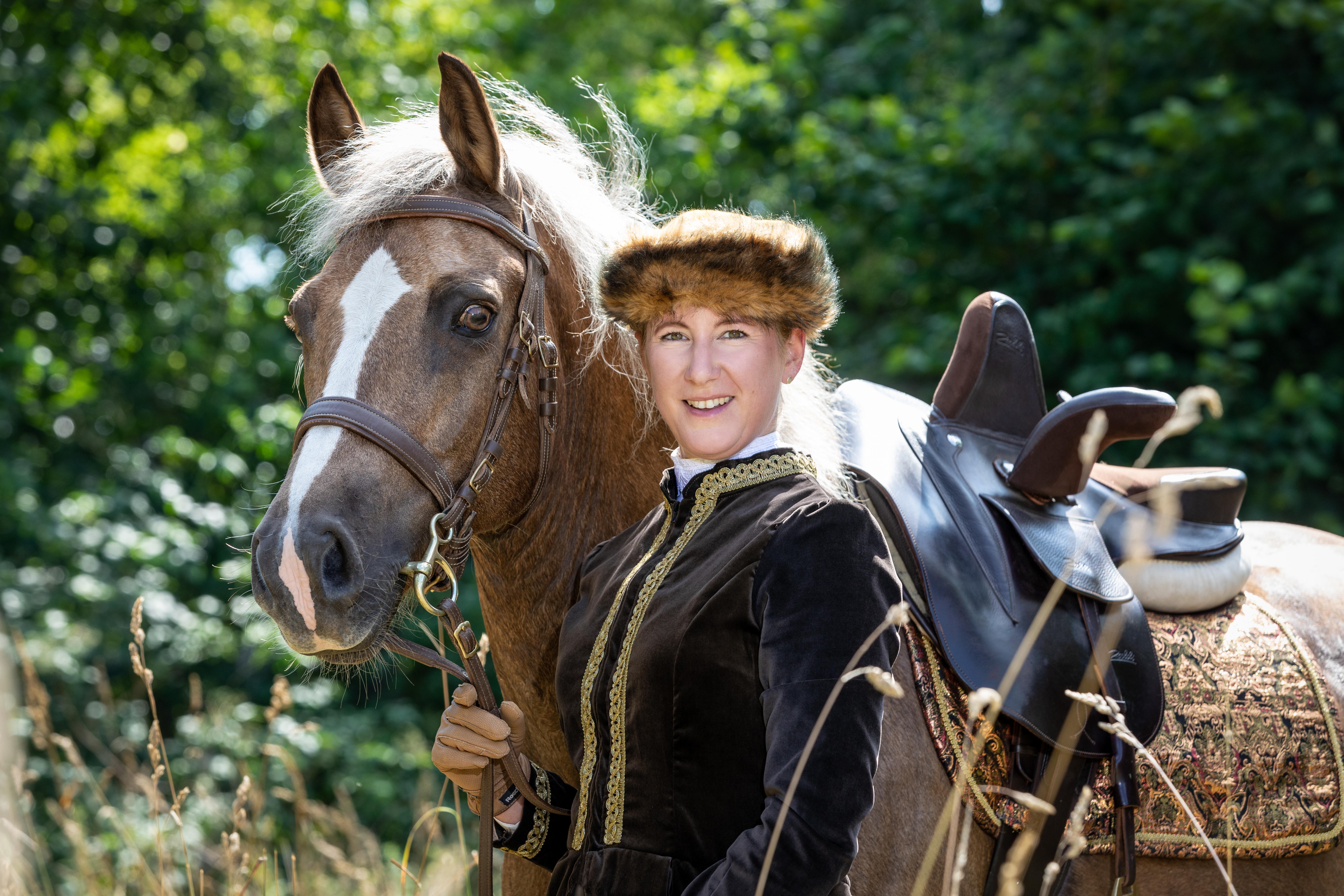 Andrea mit Pferden-88