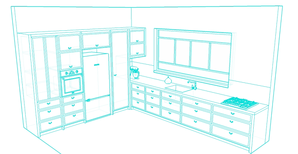 L kitchen sketc4
