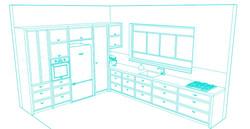 L kitchen sketc4