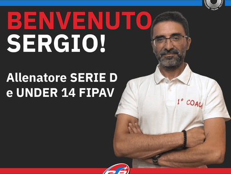 Grande colpo per lo staff del volley GSB: benvenuto Sergio!