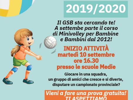 Corsi Minivolley 2019/2020