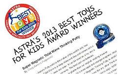 Astra best toys ödülü