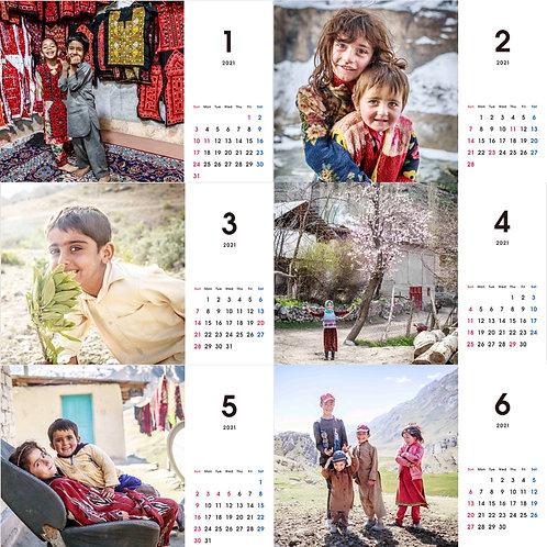 シルクロードの子どもたちー2021年卓上カレンダー