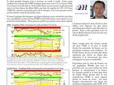 UBS et Crédit Suisse au coude à coude