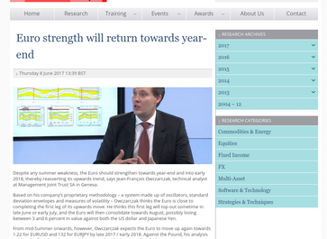 Euro strength will return towards year-end
