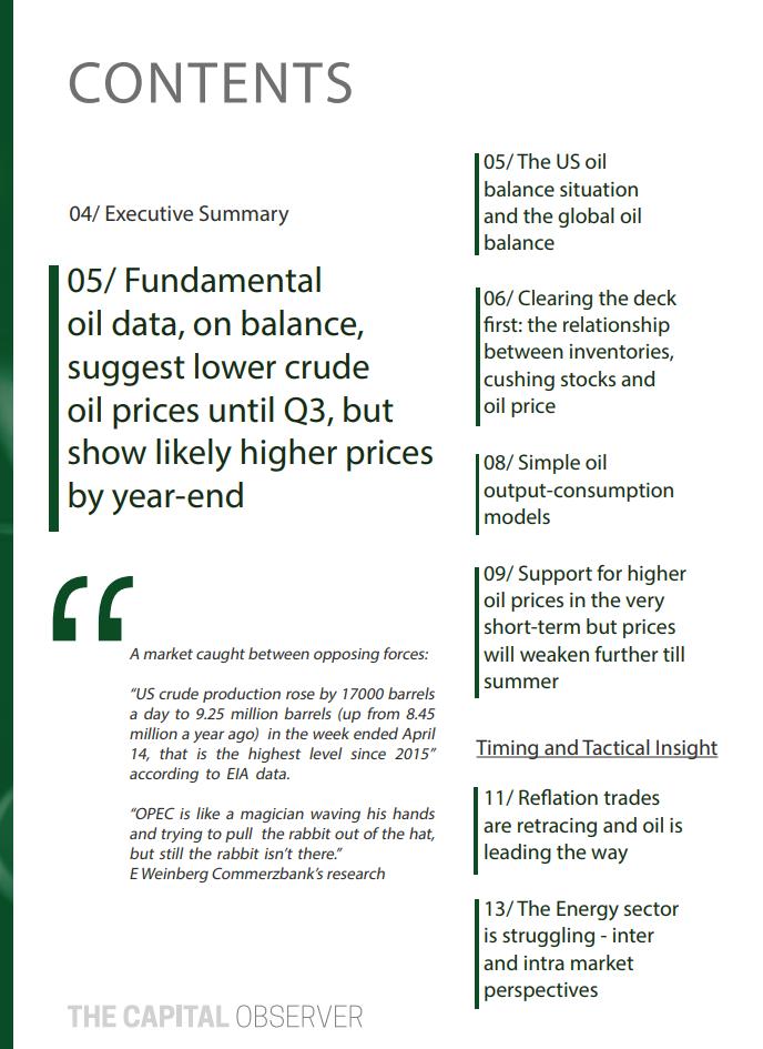 OIL SPECIAL REPORT APRIL / 2017