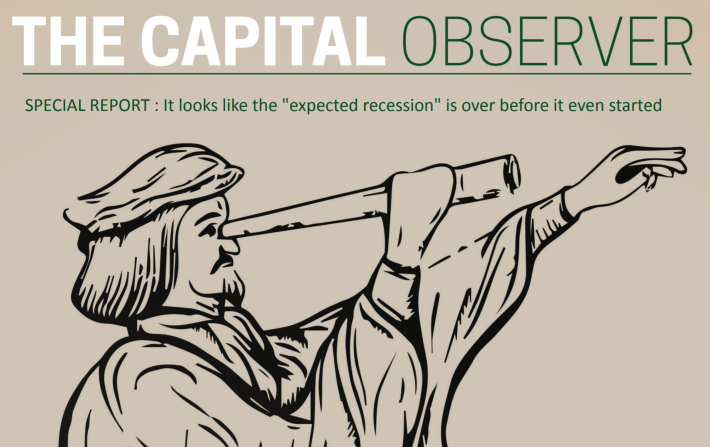 """Special Report:                                            It looks like the """"expected recessio"""