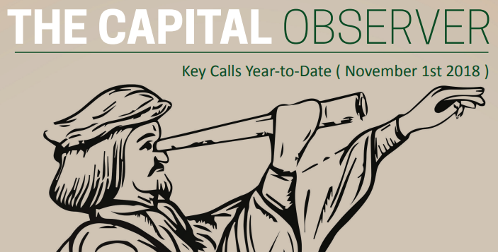 Key Calls Year-to-date (November 1st 2018)