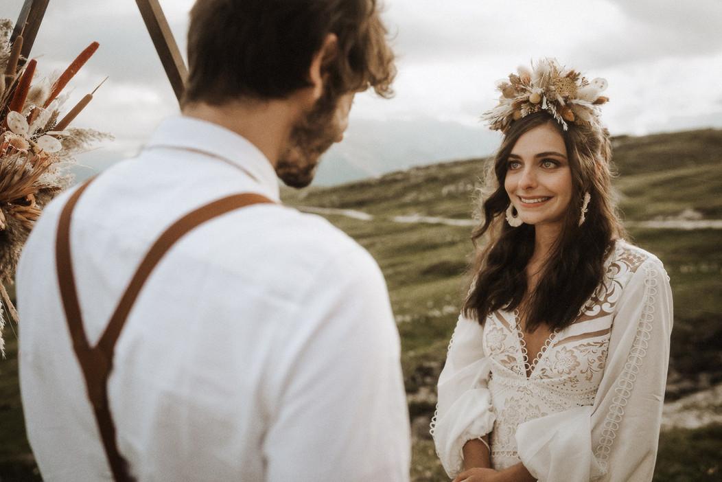 matrimonio stile boho chic hippie chic in montagna stile