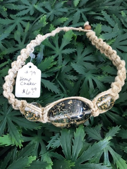 Gold Flake Hemp Choker