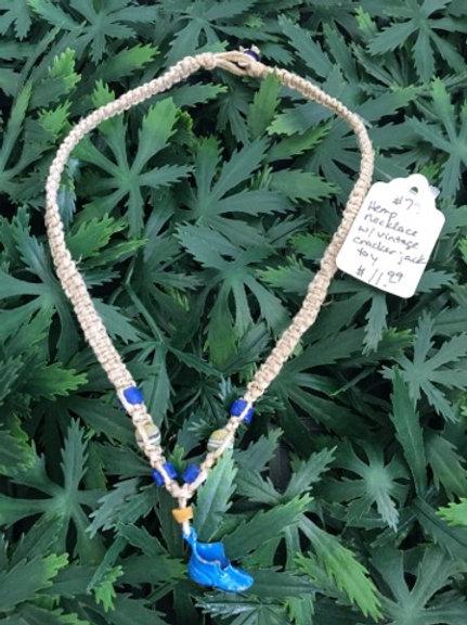 Vintage Toy Hemp Necklace