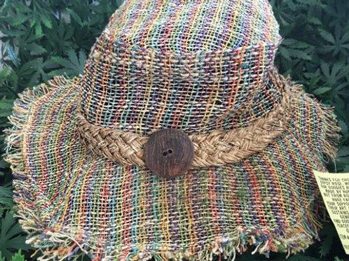 Colorful Floppy Hemp Hat