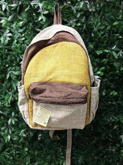 Color-block Hemp Backpack