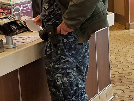 Meanwhile at McDonald's on base...
