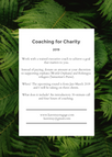 Launching Coaching for Charity Round 2!
