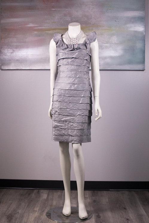 London Times Silver Cocktail Dress