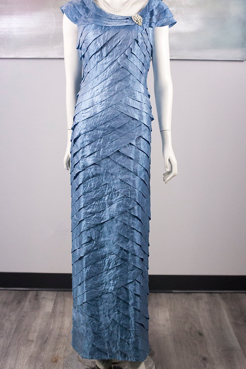 London Times Light Blue Formal Gown