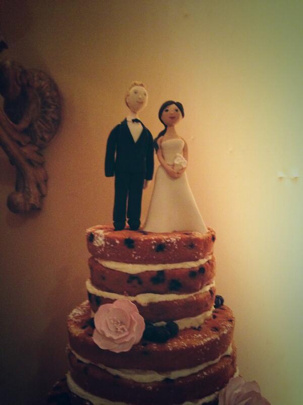 Bachelor Wedding Naked Cake