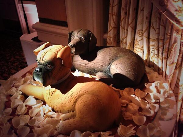 Bachelor Wedding Grooms Cake Dog