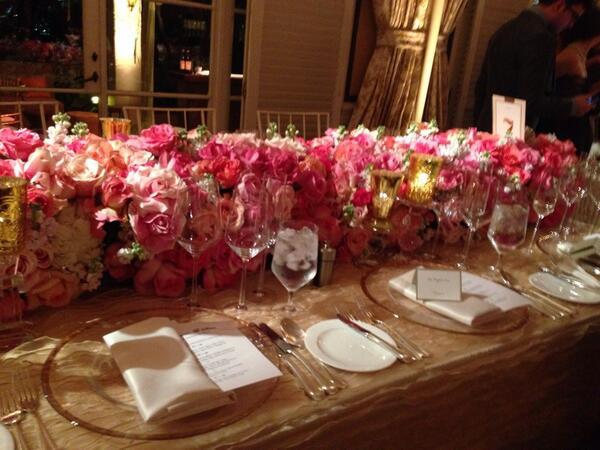 Bachelor Wedding flowers reception
