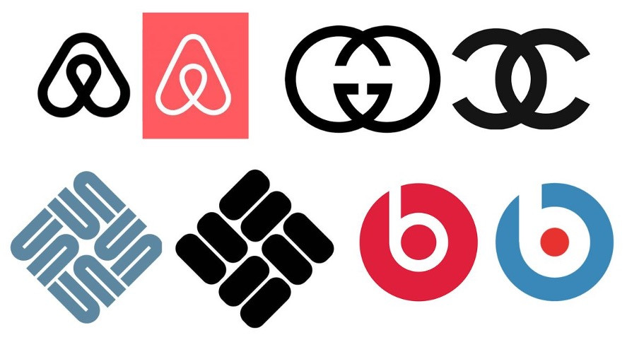 big brands had their logos similar to other brands?