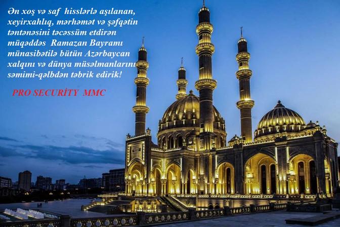 Ramazan Bayramınız  mübarək olsun!