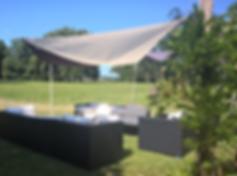 salon d'été vue sur le parc château saint denis