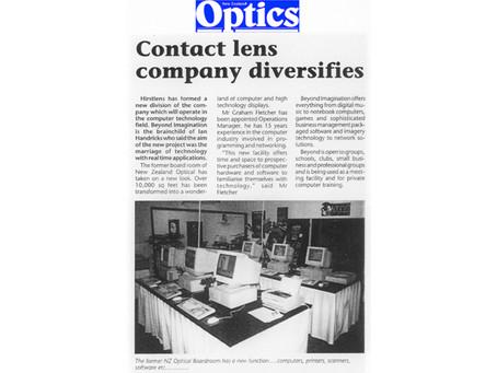 Contact Lens company diversifies