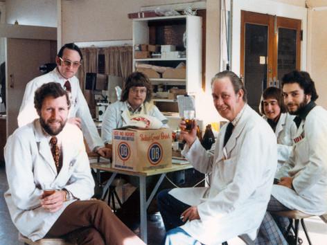 Right to left: Martyn Davy, John Shennan, Ian Handricks, Will Nyenkamp, David Hogsden & Grant Allen