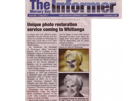 Unique photo restoration service coming to Whitianga