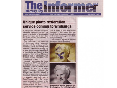 Unique photo restoration service coming to Whitianga