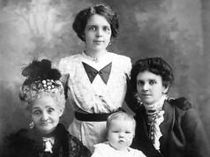 Four Generations Sarah handricks (left) Ruby Staggard (Centre), Rose Holdsworth (right) and baby, Gwendoline Handricks