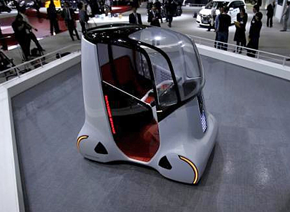 Honda Motor Co's personal mobility concept self-driving car ''Wander Stand''