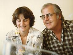 Eddie & Norma Handricks looking at first granchild, Daniel