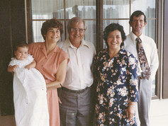 Daniel Handricks with four grandparents - Norma and Eddie Handricks (right) and Owen and Roma Brown (Right)