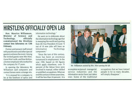 Hirstlens Officially Open Lab